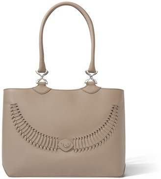 Yiy Wave Working Bag & Tote Personalizable In Antler Taupe