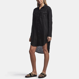 James Perse Linen Military Shirt Dress