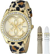 GUESS GUESS? Women's U0162L2 Multicolor Leather Quartz Watch with Dial