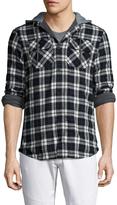 Globe Men's Alford Checkred Hooded Sportshirt