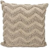 Joseph Abboud Loop Chevron 22-Inch Square Throw Pillow in Grey