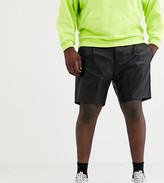 Asos Design DESIGN Plus slim shorts in faux leather