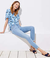 LOFT Modern Skinny Crop Jeans in Light Indigo