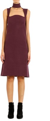 Bottega Veneta Sleeveless Square Neckline Midi Dress