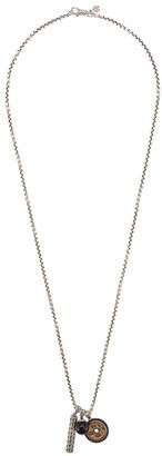 John Hardy Silver Classic Chain Necklace with Bronze and Onyx Pendant