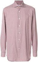 Kiton checked long sleeve shirt - men - Cotton - 40