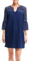 London Times Women's Lace Babydoll Dress
