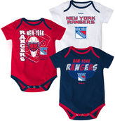 Reebok Babies' New York Rangers 3-Pc. Spread Creeper Set