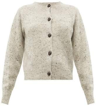 Margaret Howell Raglan Sleeved Flecked Merino Wool Cardigan - Womens - Beige