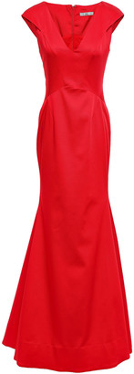 ZAC Zac Posen Fluted Faille Gown