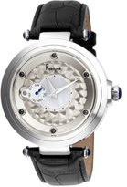 Freelook Women's HA1999-1 10th Anniversary stainless steel case Black Leather Band Watch