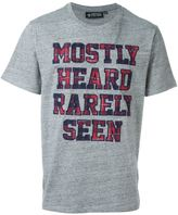 Mostly Heard Rarely Seen embroidered logo patch T-shirt