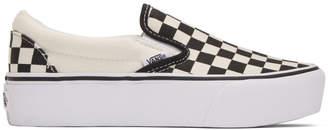 Vans Black Checkerboard Classic Slip-On Sneakers