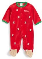 Little Me Infant Boy's Cute Teddy Velour Footie