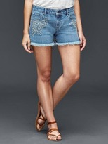 Gap AUTHENTIC 1969 best girlfriend embroidered daisy shorts