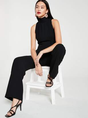 MANGO Stand Collar Jumpsuit - Black