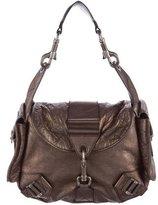 Christian Dior Metallic Leather Shoulder Bag