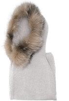 Eleventy fox fur trim scarf
