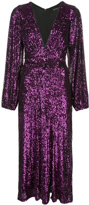 IORANE Sequinned Midi Dress