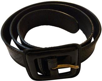 Flavio Castellani Black Leather Belts