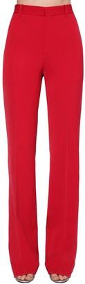 Balenciaga Wide Wool Stretch Twill Pants