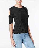 Bar III Crinkled Cold-Shoulder Top, Only at Macy's