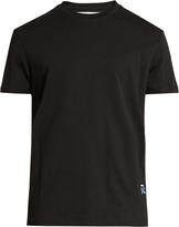 Raf Simons Logo-embroidered crew-neck cotton T-shirt
