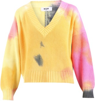 MSGM Tie-Dye Knitted Sweater