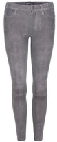Current/Elliott The Stiletto suede cropped skinny trousers