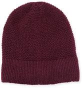 Rebecca Minkoff Garter-Stitched Headphone Beanie Hat, Aubergine