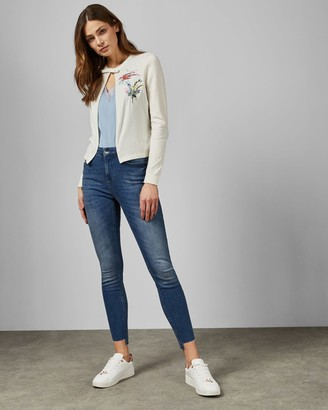 Ted Baker Fortune Embroidered Cotton Cardigan