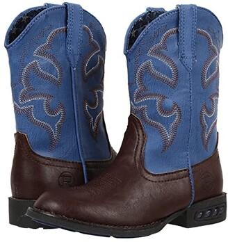Roper Lightning (Toddler/Little Kid) (Brown/Blue) Cowboy Boots