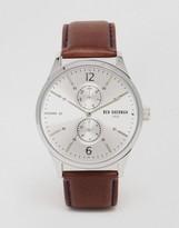 Ben Sherman Spitalfields Vinyl Leather Watch In Brown