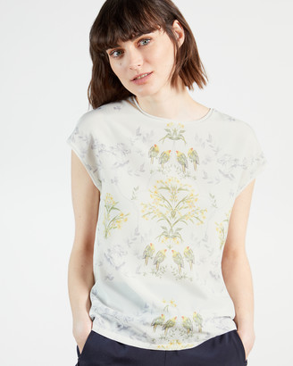 Ted Baker SONJJA Papyrus Printed Woven Front Tee