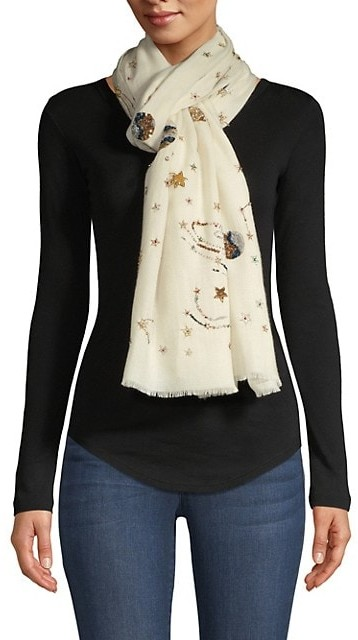 Thumbnail for your product : Janavi Galaxy Cashmere Scarf