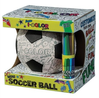 Franklin Sports Franklin Mini Colouring Soccer Ball with 10 Markers