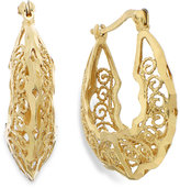 Giani Bernini 24k Gold over Sterling Silver Filigree Hoop Earrings, 23mm
