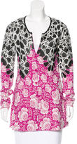 Etro Floral Long Sleeve Cardigan