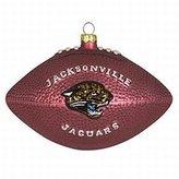 "Evergreen Jacksonville Jaguars 5"" Glass Team Football Ornament"