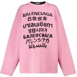 Balenciaga Languages stretch-wool sweater