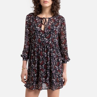 Pepe Jeans Cotton Mix Short Dress with Long Sleeves