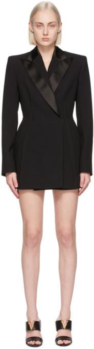 Versace Black Blazer Dress