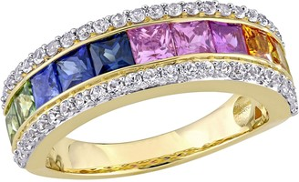 Bellini 14K Gold 3.00 cttw Multi-Color Sapphire Ring