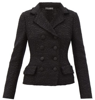 Dolce & Gabbana Boucle-tweed Double-breasted Jacket - Grey