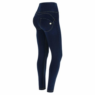 Freddy WR.UP high-Rise Skinny-fit Trousers in Stretch Denim - Dark Jeans-Yellow Seam - Extra Large