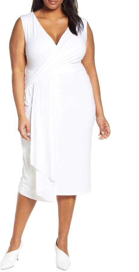 Asymmetrical Flounce Midi Dress