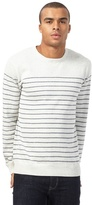 Red Herring Big And Tall Natural Striped Jumper