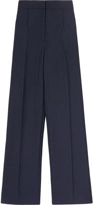 Burberry Side-Stripe Wide-Leg Tailored Trousers
