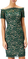 Adrianna Papell Petite Aubrey Lace Off Shoulder Dress, Green