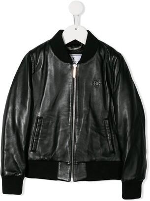 Philipp Plein Junior Space Plein bomber jacket